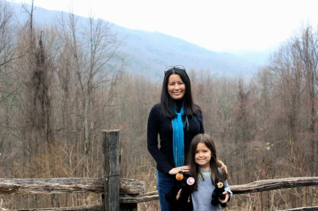 Mia and I at one of the stops along the drive through the Smoky Mountain National Park.