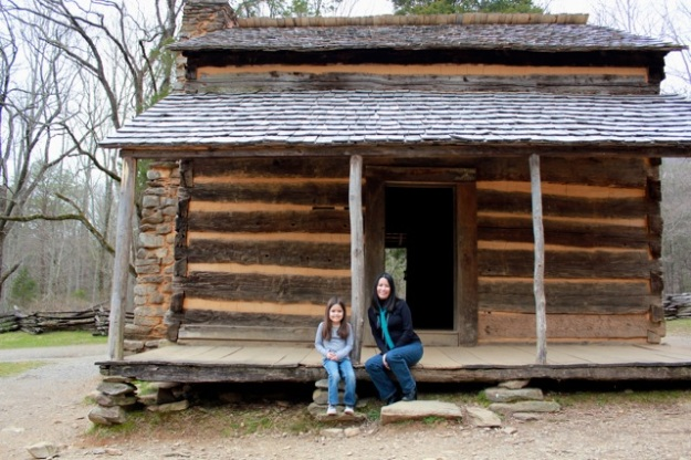 Mia and I at the John Oliver cabin.  I'm ready to move in... so relaxing!