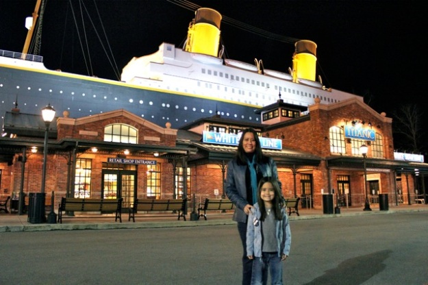 Mia and I at the Titanic Museum.  What an amazing place!