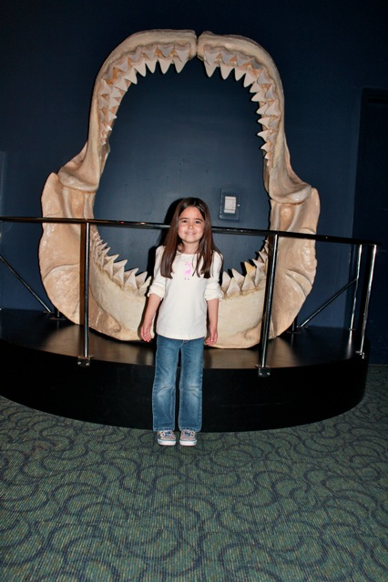 Mia at the Ripley's Aquarium.  One of her favorite things are sharks, so she loved this place!