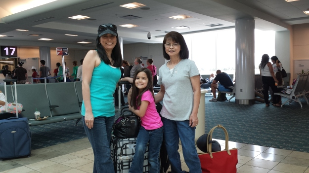 At the airport in Orlando... getting ready to leave for our Japan trip!