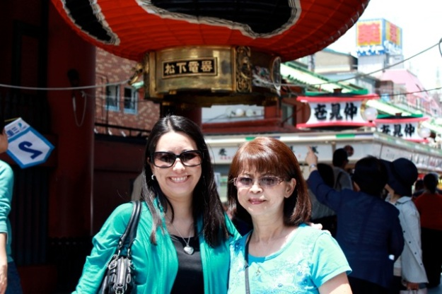My mom and I at the Sensoji Temple.