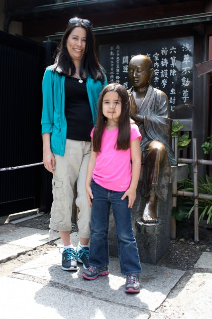 Mia and I at the Sensoji Temple.