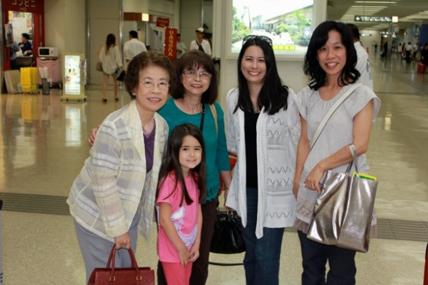 At the airport... Greeted by some of our family. We made it to Okinawa!
