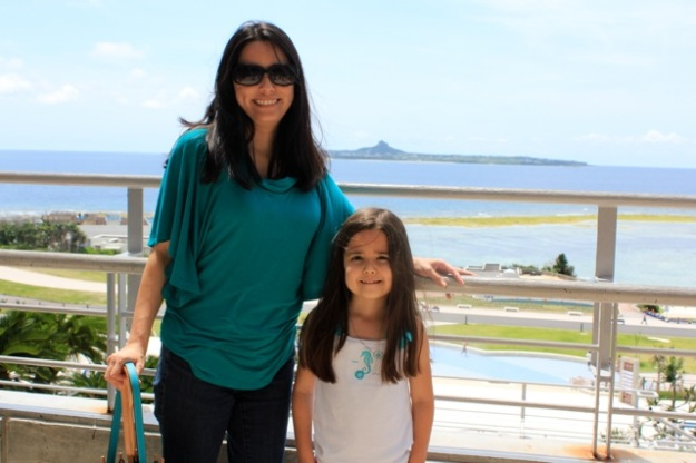 Mia and I enjoying the beautiful view... — at Okinawa Churaumi Aquarium.