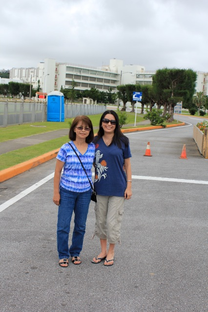 My mom and I in front of the hospital where my older brother and I were born in the same room, by the same doctor, and exactly two years apart!
