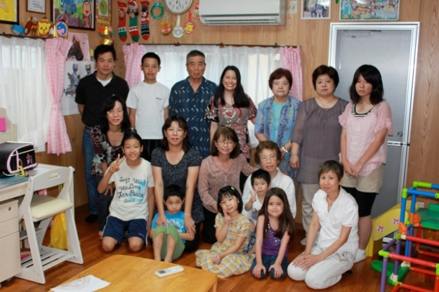 Our family at my Aunt's house.
