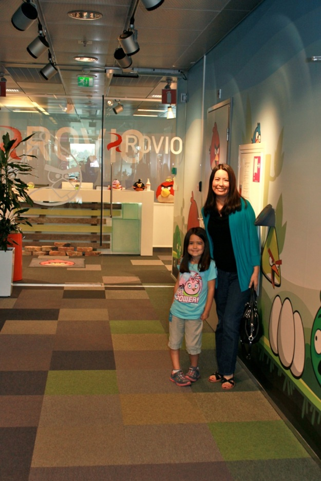 Mia and I at the entrance to the office.