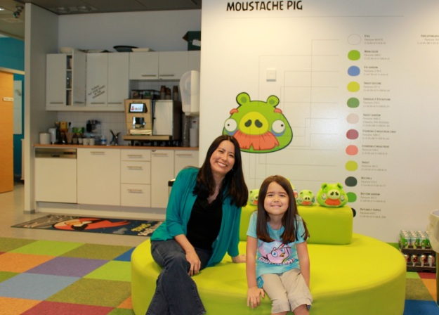 Mia and I having fun at one of the little break areas.