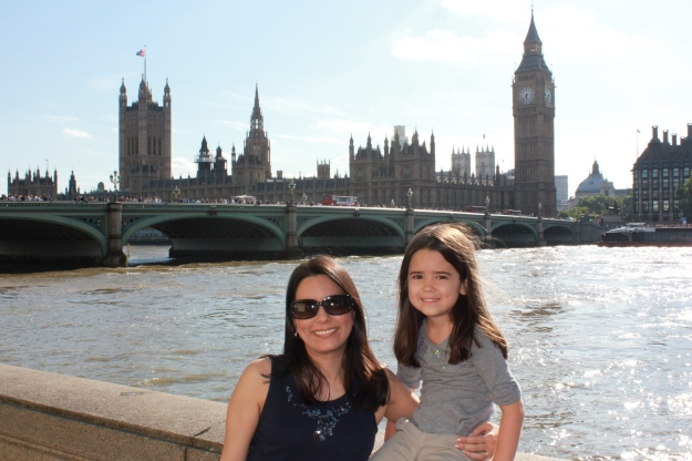Mia and I in front of Big Ben!