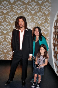 Mia and I with Johnny Depp!