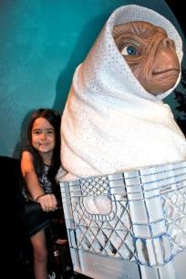 Mia with E.T.