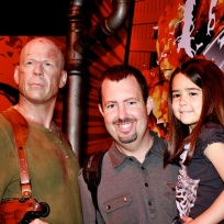 Mia and Danny with Bruce Willis!