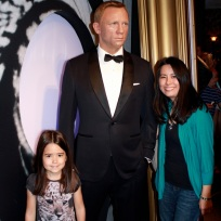 Mia and I with James Bond (Daniel Craig)!