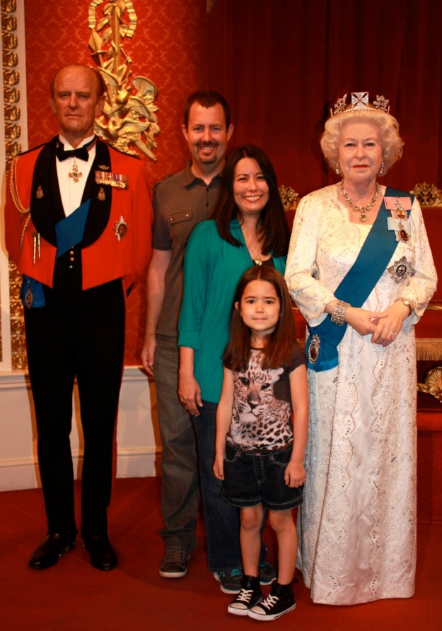 Our family with Queen Elizabeth II  and Prince Philip!