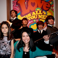 Mia and I with the Beatles!