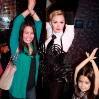 Mia and I with Madonna. Vogue!