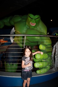 Mia with The Hulk!