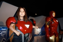 Mia with Iron Man!