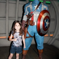 Mia with Captain America!