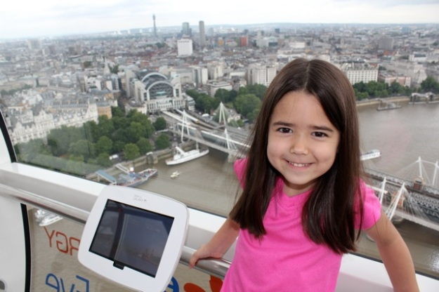 Mia enjoying the London Eye!
