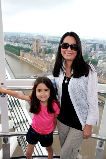 Mia and I having fun on the London Eye!