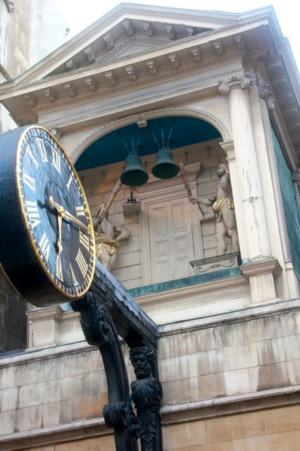 Clock on Fleet Street.