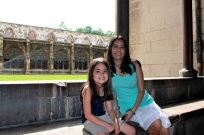 Mia and I at Westminster Abbey.