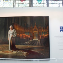 Portrait of Queen Elizabeth II. Celebrating 60 years!