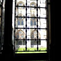 One of the beautiful windows at Westminster Abbey.