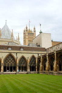 The beautiful view at Westminster Abbey.