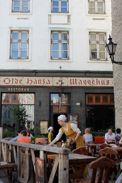 Where we enjoyed a nice relaxing lunch. The Olde Hansa in Tallinn.