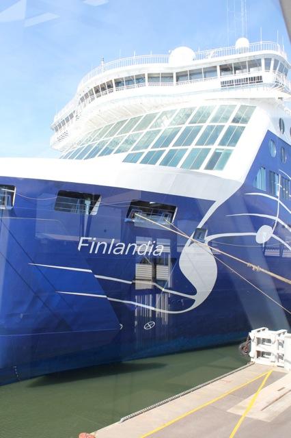 The cruise ship we took over to Estonia.