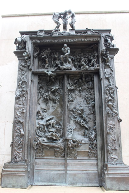 One of the most stunning sculptures: Rodin's The Gates of Hell.