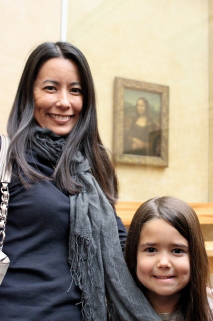 Mia and I really enjoyed seeing the Mona Lisa in person!