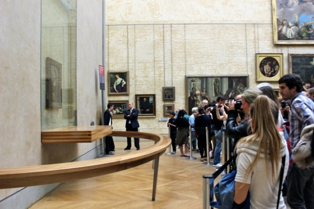 The crowd trying to get a shot of the Mona Lisa.  It was an amazing experience!