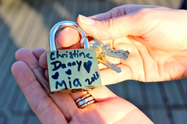Our family love lock.