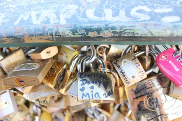 Our family love lock on the bridge!