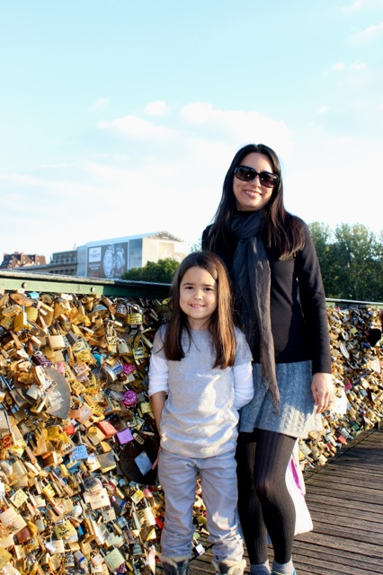 Mia and I in front of the love locks.