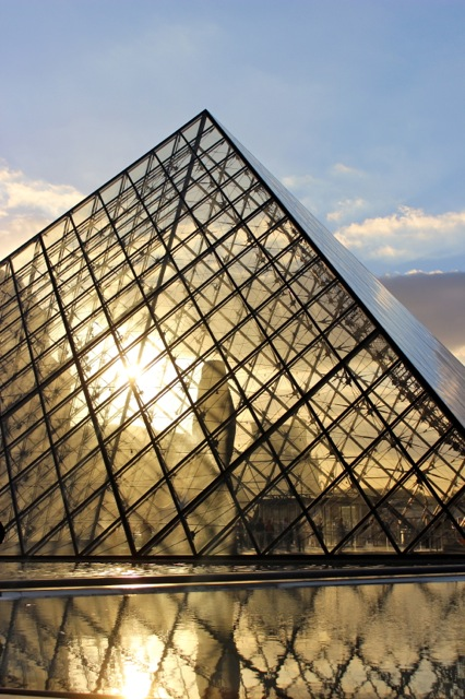 Sunset at the Musée du Louvre.