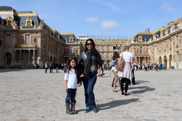 Mia and I at the front of the Palace of Versailles.