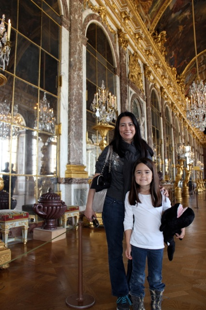 Mia and I at the Hall of Mirrors inside the Palace.