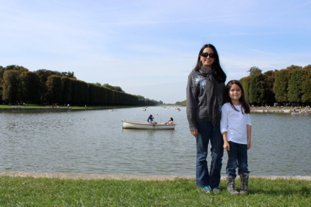 Mia and I in front of the peaceful Grand Canal.