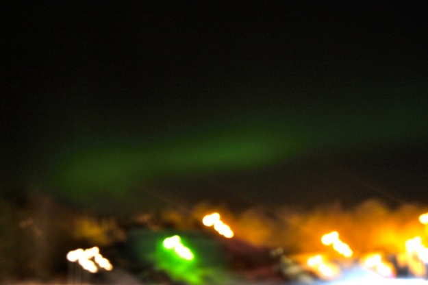 The amazing Northern Lights suddenly appeared in the sky right in front of our eyes!