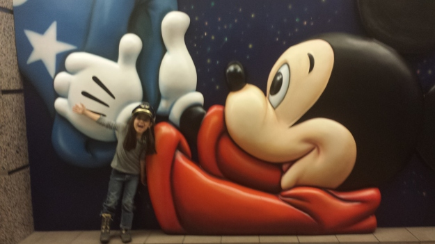 Mickey and Mia at the airport in Orlando!