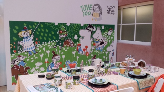 One of my favorite artists now (Tove Jansson) - a lovely Moomin display at Iittala!