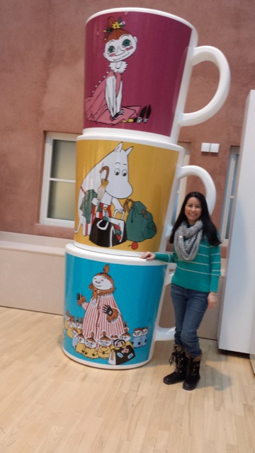 Me with the Moomin mugs!