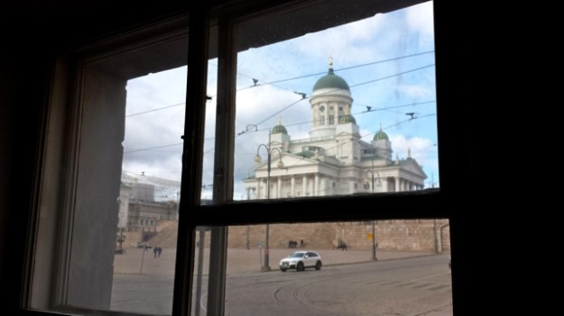 Helsinki Cathedral through a window...