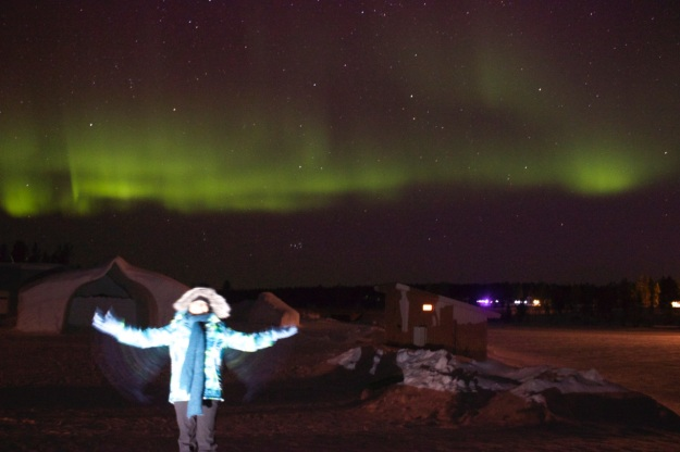 One of the happiest moments of my life... standing in front of the northern lights! Amazing!!!