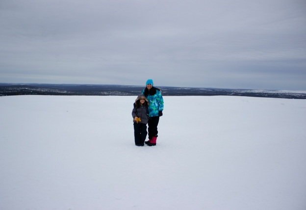Mia and I at what felt like the top of the world (well almost)... we were north of the arctic circle!